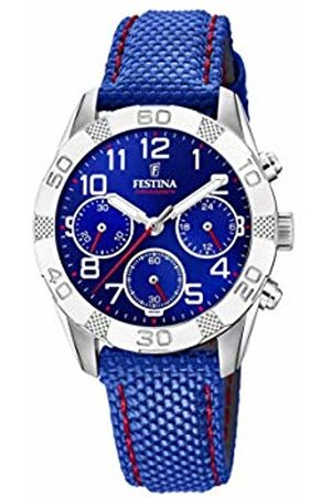Festina Unisex Child Chronograph Quartz Watch with Leather Strap F20346/2