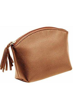 Alassio Genuine Leather Zipper Cosmetic Bag with Leather Zip Approx. 15.5cm x 11cm x 5.5cm Handbag Holder