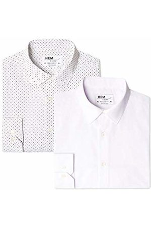 Hem & Seam Men's 2 Regular Fit Printed Formal Shirt