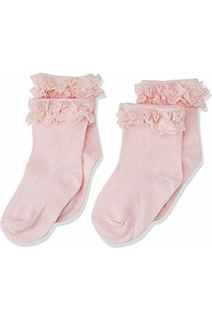 Name it Baby Girls' Nbfsock 2p Nelace Noos Tights, Strawberry Cream