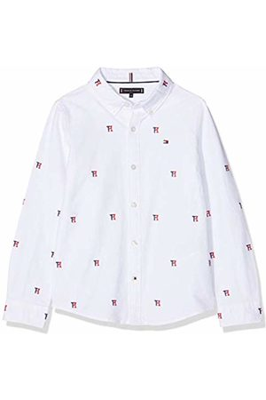 Tommy Hilfiger Boy's Allover Th Oxford Shirt L/s Long Sleeve Top, (Bright /Multi 123)