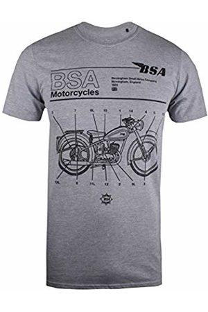 BSA Motocycles Men's Call Out T-Shirt, ( Marl Gym)