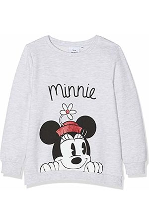 Disney Minnie Mouse Girl's Minnie Mouse Flower Hat Sweatshirt, ( Marl)