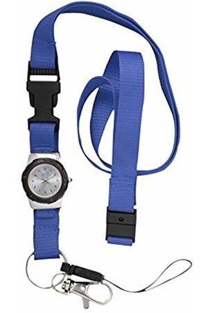 FunkyFobz Integrated Lanyard Watch - Blue for Nurse Doctor Midwife