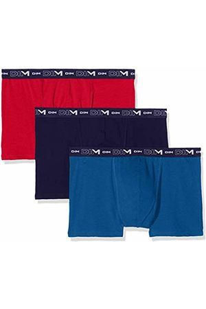 Dim Men's Coton Stretch Boxer X3 Shorts, (Rouge Baiser Antique/Bleu Crepuscule E)