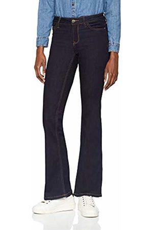 JDY Women's elia Flared Rw DNM Noos Bootcut Jeans, Dark Denim