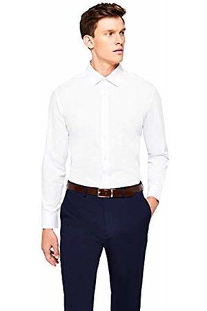 Hem & Seam Men's Regular Fit Solid Formal Shirt