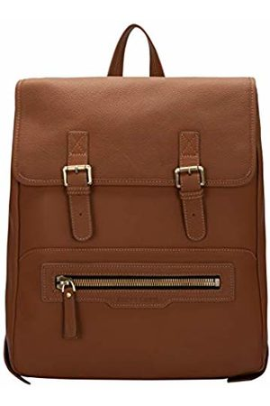 Smith & Canova Mens Flapover Buckle Detail Backpack Backpack (Tan)