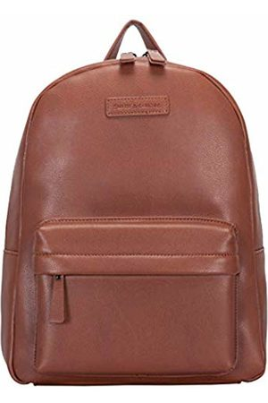 Smith & Canova Mens Zip Fastening Pocketed Backpack Backpack (Tan)