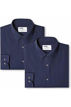 Hem & Seam Men's 2 Regular Fit Solid Formal Shirt