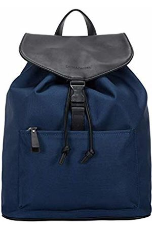 Smith & Canova Mens Front Pocketed Drawstring - Clasped Bkpk Backpack (Navy)