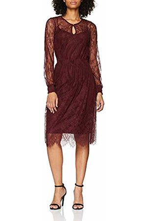 Esprit Collection Women's 118eo1e025 Dress, (Bordeaux 600)