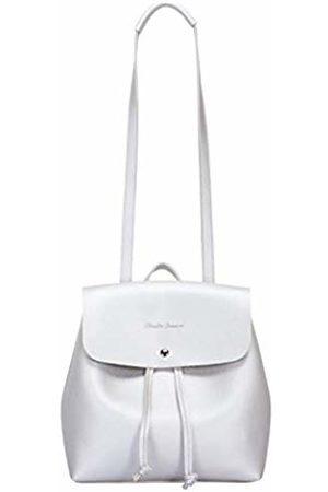 Claudia Canova Womens Metallic Flapover Backpack Backpack