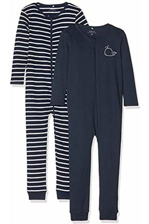 Name it Baby Boys' Nbmnightsuit 2p Zip Noos Footies, Dark Sapphire