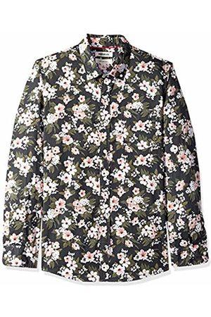 Goodthreads Men's Slim-Fit Long-Sleeve Printed Poplin Shirt, Wallpaper Floral