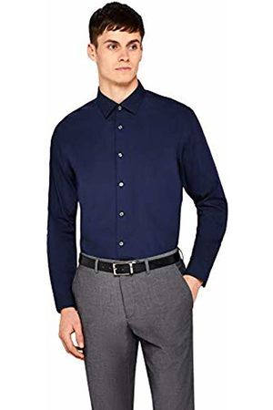 Hem & Seam Men's Regular Fit Solid Formal Shirt