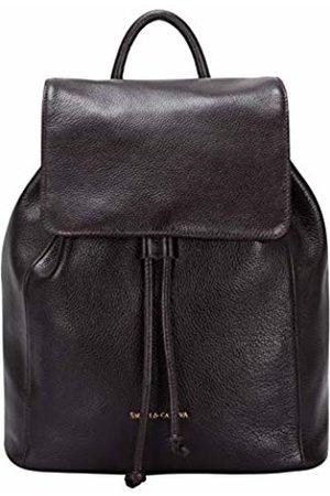 Smith & Canova Womens Flapover Drawstring Backpack Backpack (Chocolate)