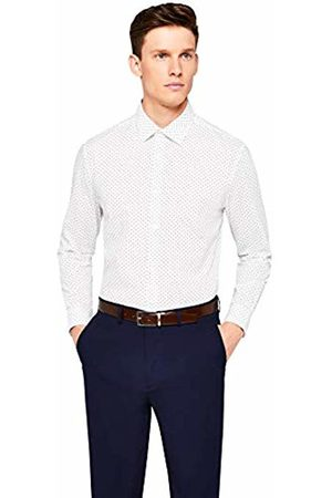Hem & Seam Men's Regular Fit Printed Formal Shirt