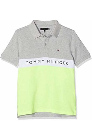 Tommy Hilfiger Boy's Essential Colorblock Stripe Polo Shirt, ( Heather 004)