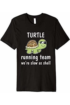 Turtle Run T-Shirts Turtle Running Team We're Slow As Shell Pun Funny T-Shirts