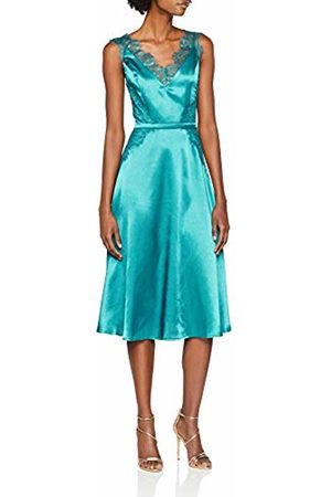 Little Mistress Women's Satin Dress Party, ( Kingfisher)