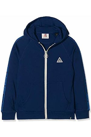 Scotch&Soda Shrunk Boy's Hooded Zip Through Sweat in Cotton Poly with Printed Tapes Sweatshirt, ( Summit 2674)