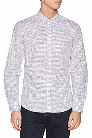 Springfield Men's in Print Popelin Casual Shirt