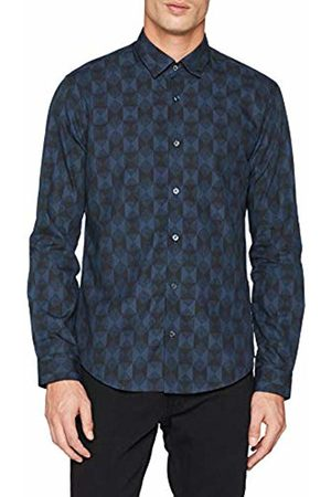 Ben Sherman Men's LS Geo Argyle Shirt Casual
