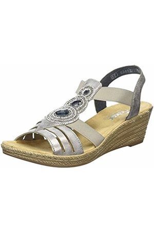 Rieker 62459-40, Women's Open Toe Wedge Sandals