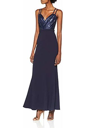 Little Mistress Women's Navy Sequin Maxi Dress