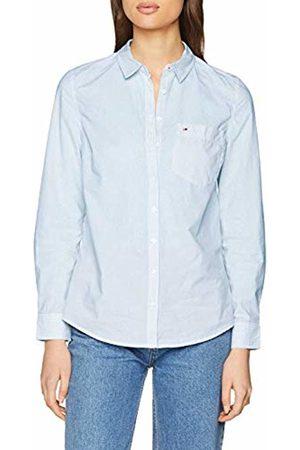 Tommy Hilfiger Women's Regular Poplin Stripe Shirt Short Sleeve Blouse
