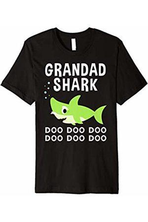 Shark Family Shirts Grandad Shark Christmas Shirt for Matching Family Pajamas
