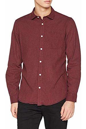 Springfield Men's Wf Solid Frannel Melange Casual Shirt