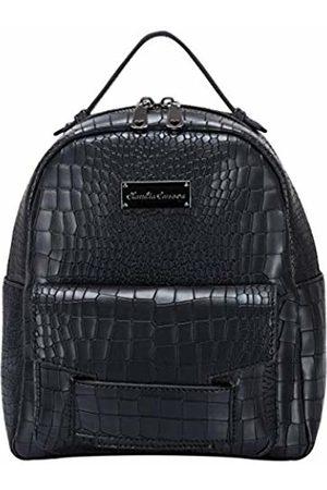 Claudia Canova Womens Croc Print Zipped Pocketed Bkpk Backpack