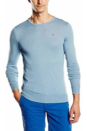 Tommy Hilfiger Men's Tommy cn Sweater l/s Jumper, -Blau (Faded Denim-PT 416)