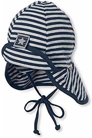 Sterntaler Hat for Boys with Neck Protection, Star and Strip Motiv with Velcro Fastener, Age: from 12-18 Months, Size: 49
