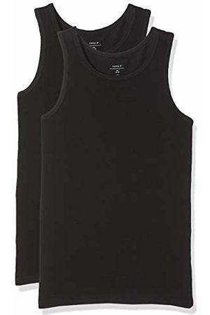 Name it Boy's Nkmtank Top 2p Noos T-Shirt, Schwarz