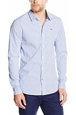 Tommy Hilfiger Men's Striped Poplin Long Sleeve classic Casual Shirt