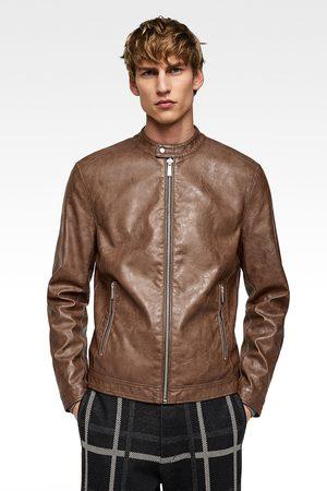 Zara Leather Jackets - FAUX LEATHER JACKET