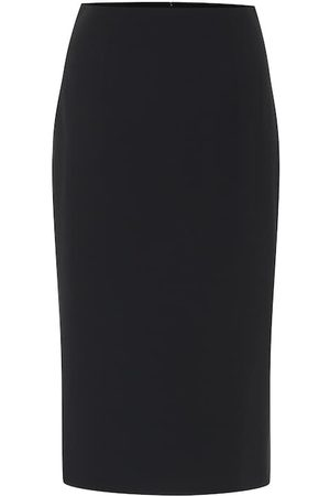 Alexander McQueen Crêpe pencil skirt