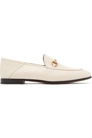 Gucci Brixton Collapsible Heel Leather Loafers - Womens
