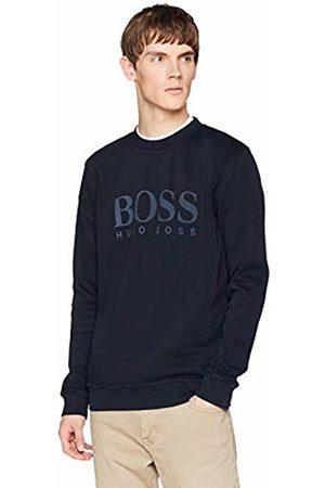 HUGO BOSS Men's Weave Sweatshirt, (Dark 404)