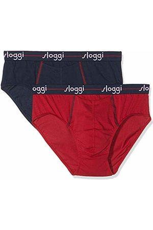 Sloggi For Men Men's Start Ho Midi C2p Boxer Briefs, ( -Dark Combination M008)