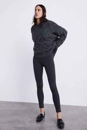 Zara HOUNDSTOOTH LEGGINGS