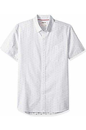 Goodthreads Men's Standard-Fit Short-Sleeve Dobby Shirt, - stripe dot