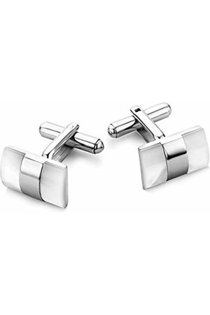 Miore Stainless Steel Cufflinks with Shell CM011