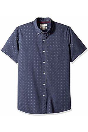 Goodthreads Men's Standard-Fit Short-Sleeve Dobby Shirt, -navy dot