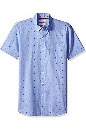 Goodthreads Men's Slim-Fit Short-Sleeve Dobby Shirt, - flower