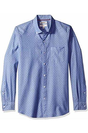 Goodthreads Men's Slim-Fit Long-Sleeve Dobby Shirt, - diamond