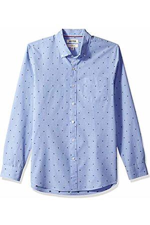 Goodthreads Men's Slim-Fit Long-Sleeve Dobby Shirt, - flower